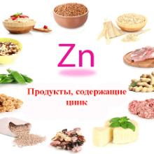 Продукты, где больше всего содержится цинка