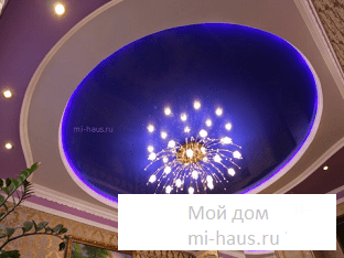 Как установить люстру на натяжной потолок?