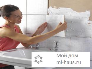 Как укладывать керамическую плитку на поверхность стены?