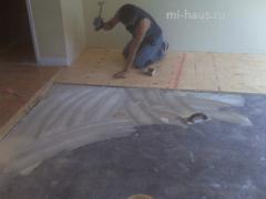Как можно крепить фанеру к полу?